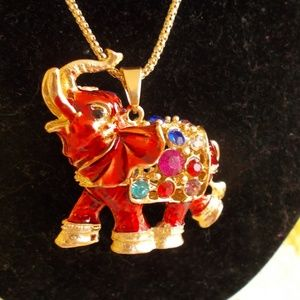 pretty elephant in red and lots more colors